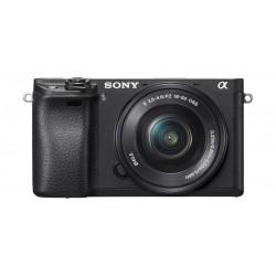 Sony Alpha A6300 24.2 MP 4K Wi-Fi Mirrorless Digital Camera with 16-50mm Lens – Black
