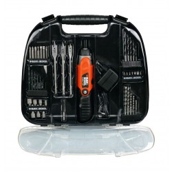 Black + Decker Cordless Screwdriver with 44 Pieces Accessories (A7145-GB)