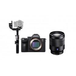 Sony Alpha A7 III Mirrorless Digital Camera With 28-70mm Lens + FeiyuTech AK2000 Wi-Fi Gimbal Stabilizer