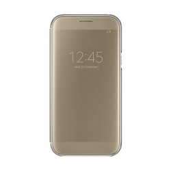 Samsung Clear View Cover For Galaxy A5 2017 (EF-ZA520CFEGWW) - Gold
