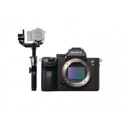 Sony Alpha A7 III Mirrorless Digital Camera (Body Only) + FeiyuTech AK2000 Wi-Fi Gimbal Stabilizer
