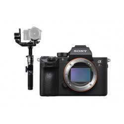 Sony Alpha a7R III 42MP Mirrorless Digital Camera (Body Only) + FeiyuTech AK2000 Wi-Fi Gimbal Stabilizer