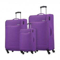 American Tourister Jamaica 3 Piece Luggage Set + Backpack - Purple