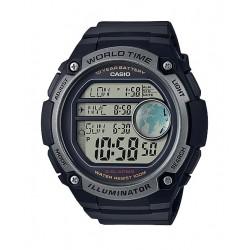 Casio Illuminator 54mm Gent's Rubber Sports Watch - (AE-3000W-1AVDF)