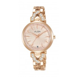 Alba Ladies Fashion Analog 30mm Metal Watch (AG8H70X1) - Rose-Gold