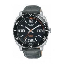 Alba 43.5mm Analog Gents Leather Watch (AG8H97X1) - Grey