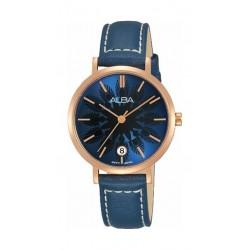 Alba Quartz 32mm Analog Ladies Leather Watch (AG8J10X1) - Blue