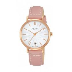 Alba Quartz 32mm Analog Ladies Leather Watch (AG8J12X1) - Pink