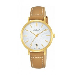 Alba Quartz 32mm Analog Ladies Leather Watch (AG8J16X1) - Brown