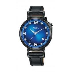 Alba Quartz 34mm Analog Ladies Leather Watch - AG8J19X1