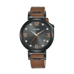 Alba Quartz 34mm Analog Ladies Leather Watch - AG8J21X1