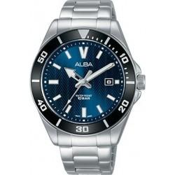 Alba 41.5mm Analog Gents Metal Watch (AG8J33X1) - Silver