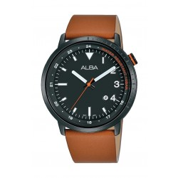 Alba 42mm Analog Gents Leather Watch - AG8J99X1