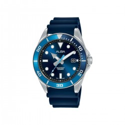 Alba 41mm Analog Gents Casual Silicon Watch (AG8K19X1) - Blue