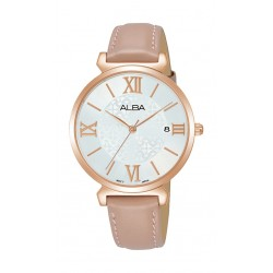 Alba 34mm Ladies Analog Leather Fashion Watch - AG8K78X1