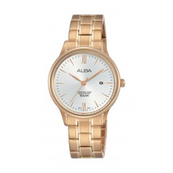 Alba Ladies Casual Analog 30 mm Metal Watch (AH7N80X1) - Rose-Gold