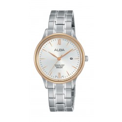 Alba Ladies Casual Analog 30 mm Metal Watch (AH7N84X1) - Silver