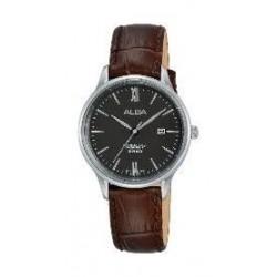Alba Ladies Casual Analog 30 mm Leather Watch (AH7P05X1) - Black
