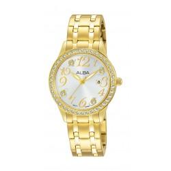 Alba Ladies Fashion Analog 29mm Metal Watch (AH7P26X1) - Gold