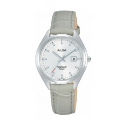 Alba 31mm Ladies Leather Analog Watch (AH7Q17X1) - Grey