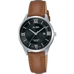 Alba 30mm Analog Ladies Leather Watch (AH7R41X1) - Brown