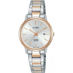Alba 28mm Analog Ladies Metal Watch (AH7R50X1) - Silver/ RoseGold