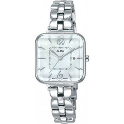 Alba 25mm Analog Ladies Metal Watch (AH7R69X1) - Silver