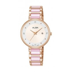 Alba 30mm Analog Ladies Metal Fashion Watch - AH7R92X1