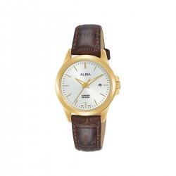 Alba 29mm Analog Ladies Leather Watch (AH7S50X1) - Brown