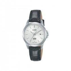 Alba 29mm Analog Ladies Leather Watch (AH7S53X1) - Black