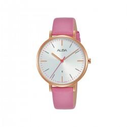 Alba 34mm Analog Ladies Fashion Leather Watch (AH7T26X1) - Pink