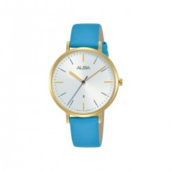 Alba 34mm Analog Ladies Fashion Leather Watch (AH7T30X1) - Blue