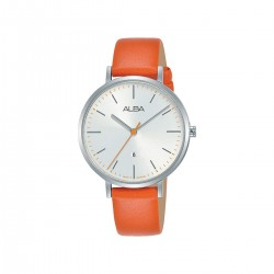Alba 34mm Analog Ladies Fashion Leather Watch (AH7T31X1) - Orange