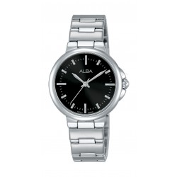 Alba Ladies Fashion Analog 30mm Metal Watch (AH8425X1) - Silver