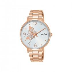 Alba 36mm Analog Ladies Metal Watch (AH8602X1) - Rose-Gold