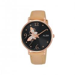 Alba 36mm Analog Ladies Leather Watch (AH8610X1) - Beige