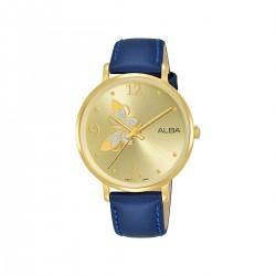 Alba 36mm Analog Ladies Leather Watch (AH8612X1) - Dark Blue