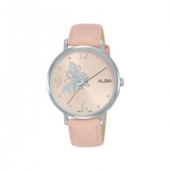 Alba 36mm Analog Ladies Leather Watch (AH8613X1) - Pink