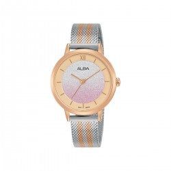 Alba 32mm Analog Ladies Fashion Metal Watch (AH8630X1) - Silver/Rose-Gold