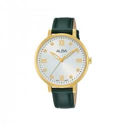 Alba 36mm Analog Ladies Leather Watch (AH8670X1) - Dark Green
