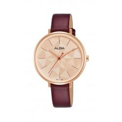 Alba 34mm Analog Ladies Leather Fashion Watch (AH8678X1)