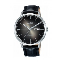 Alba Automatic 42mm Analog Gent's Leather Watch (AL4125X1) - Black