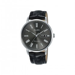 Alba 40mm Analog Gents Leather Watch (AL4133X1) - Black