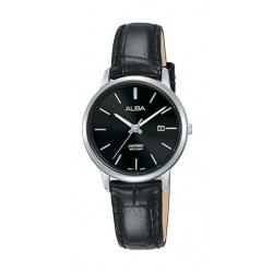 Alba 28mm Analog Ladies Leather Watch (AH7R59X1) - Black