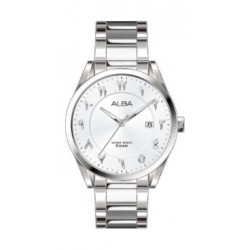 Alba 30mm Arabic Ladies Metal Watch (AH7T33X1) - Silver