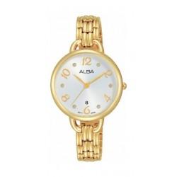 Alba 30mm Ladies Analog Metal Watch (AH7Q38X1) - Gold