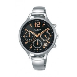 Alba 36mm Chronograph Ladies Leather Fashion Watch - AT3E99X1