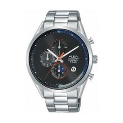 Alba 43mm Chronograph Gent's Metal Watch (AM3567X1) - Silver