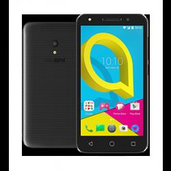 Alcatel U5-5044 4G LTE Dual SIM Mobile Grey - Front & Back View 2