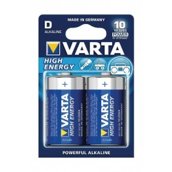Varta High-Energy D Alkaline Batteries 2 Pcs
